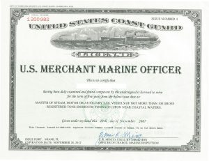 Merchant Marine License
