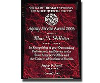 State Attorney's Agency Service Award